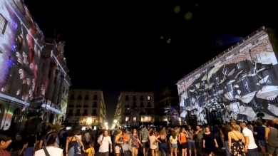 Slidemedia + Eyesberg Studio - La Merce 2018 Projection mapping ODA DES DEL CEL - 13