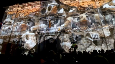 Slidemedia + Eyesberg Studio - La Merce 2018 Projection mapping ODA DES DEL CEL - 16