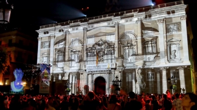 Slidemedia + Eyesberg Studio - La Merce 2018 Projection mapping ODA DES DEL CEL - 20