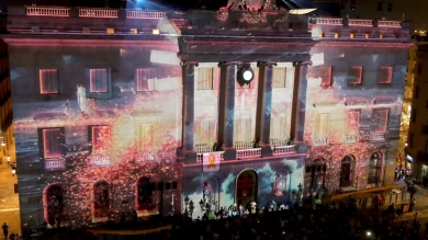 Slidemedia + Eyesberg Studio - La Merce 2018 Projection mapping ODA DES DEL CEL - 25