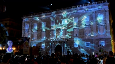 Slidemedia + Eyesberg Studio - La Merce 2018 Projection mapping ODA DES DEL CEL - 27