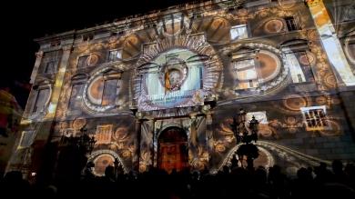 Slidemedia + Eyesberg Studio - La Merce 2018 Projection mapping ODA DES DEL CEL - 7